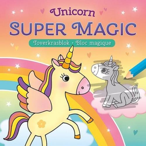 Unicorn super magic toverkrasblok [3 jaar +]
