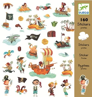 Djeco stickers Piraat - 08839